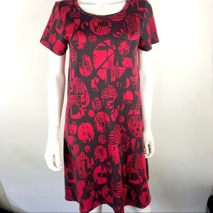 LulaRoe XS Carly High Hi Low Short Sleeve Dress